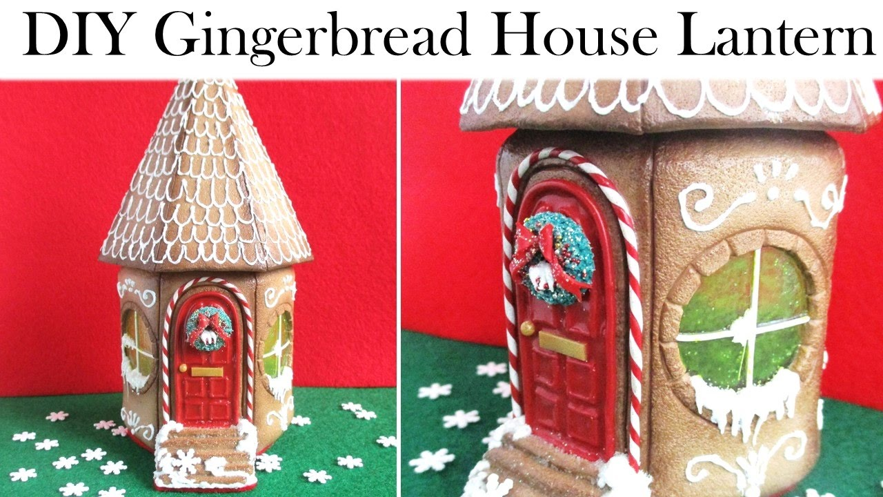 Polymer Clay Christmas Village.Diy Polymer Clay Christmas Gingerbread House Lantern Jar Tutorial Maive Ferrando