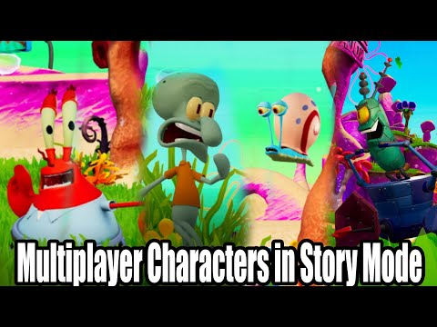 Multiplayer Characters In Story Mode - Spongebob Squarepants Battle For Bikini Bottom Rehydrated