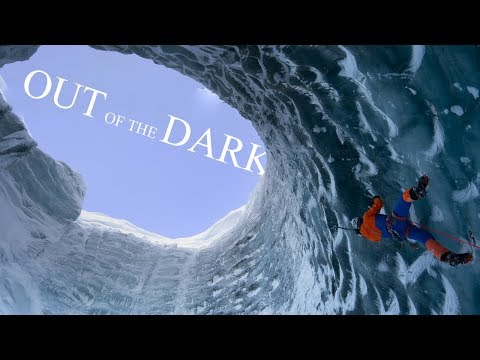 Ice Climbing in the Depths of a Glacier