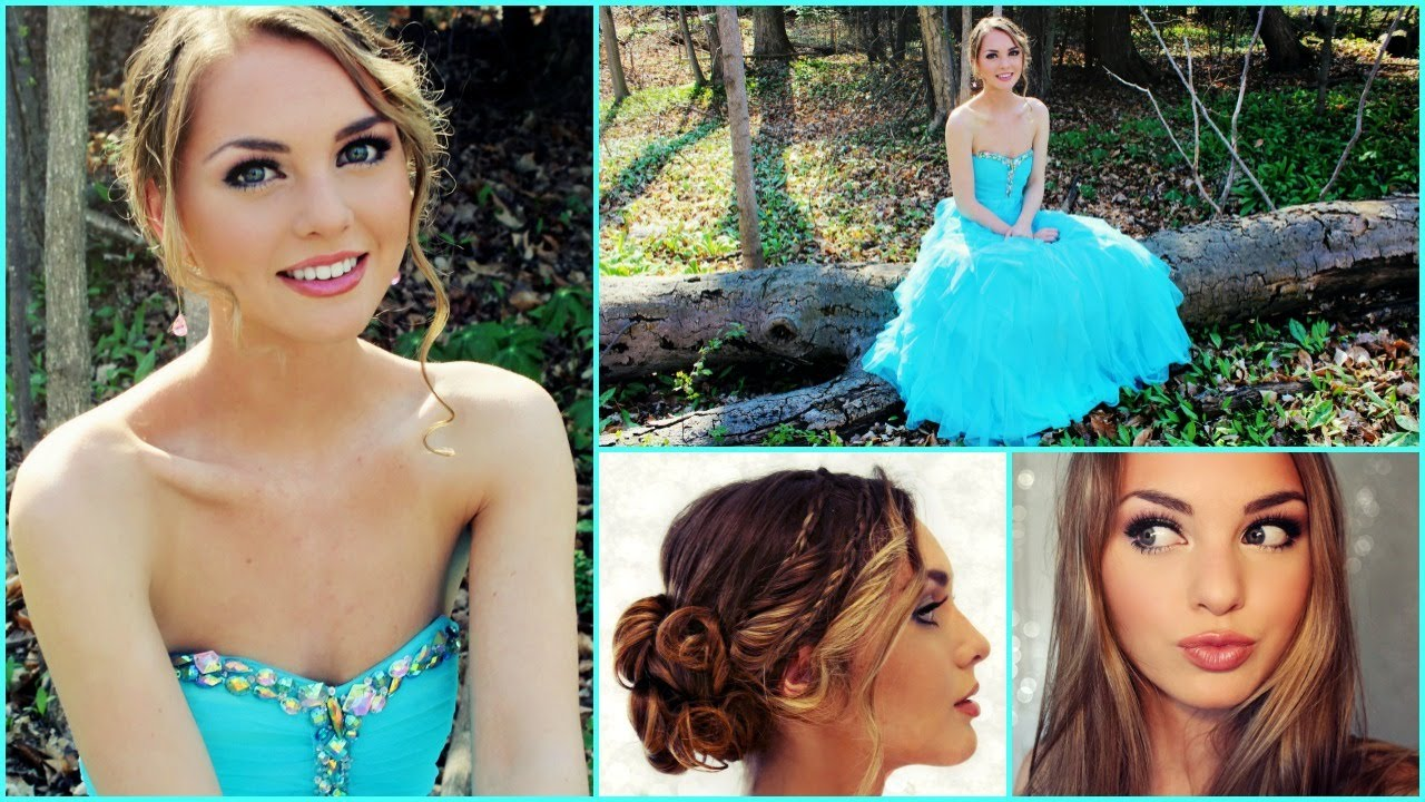 Prom makeup hair and dress