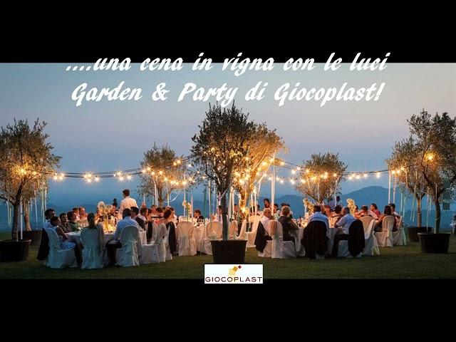 Cena in vigna con luci Garden & Party