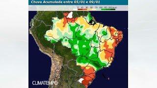 Mais chuva para o Brasil no fim de semana