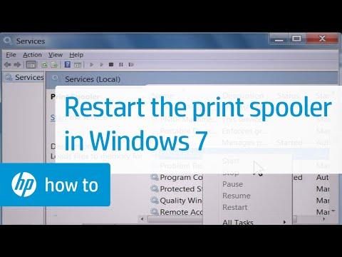Restart the Print Spooler in Windows 7