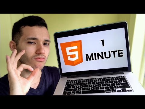 Learn HTML In 1 Minute (FOR REAL)