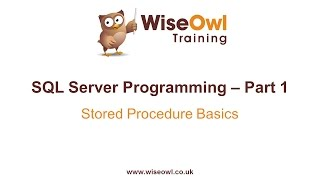 SQL Server Programming Part 1 - Stored Procedure Basics