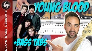 YOUNGBLOOD - Bass lesson with TABS - 5SOS