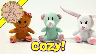 Build A Bear #6 Gingerbread Girl #7 Cozy Teddy #8 Pink Bunny - 2013 Mcdonald's Happy Meal Toy Review