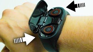 Браслет со встроенными TWS наушниками. Фитнес часы LEMFO M1