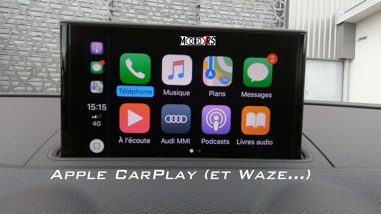 apple carplay avec waze youtube. Black Bedroom Furniture Sets. Home Design Ideas