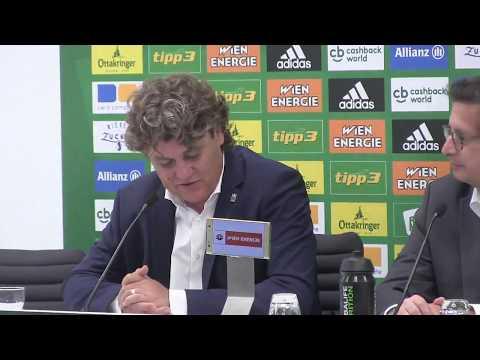 Pressekonferenz von Rapid Wien vor dem Bundesliga-Heimspiel gegen SCR Altach