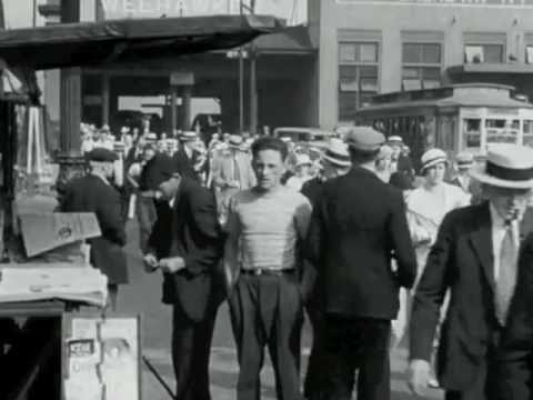 Black white new york 1930s 40s film snippits