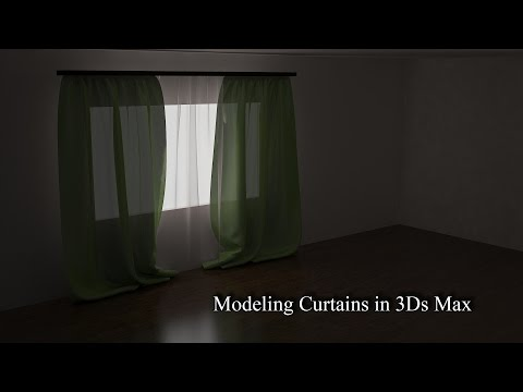 Modeling CURTAINS 3d Max Tutorial/3D firanka/3D занавеска