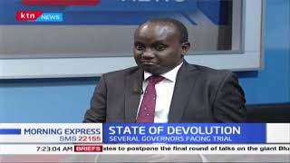 DEVOLUTION LIE:Devolution promises that didn't work out with several governors facing graft charges