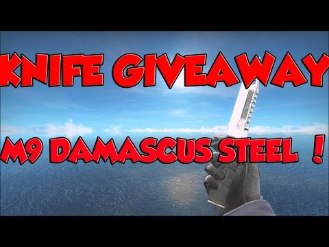 free csgo knife giveaway m9 damascus steel ft skin giveaway open