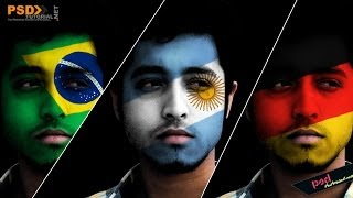 Paint Flag Face by Photoshop Tutorial