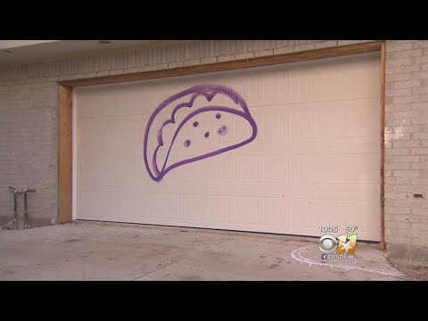 Purple Taco Graffiti Hard To Ignore In East Dallas