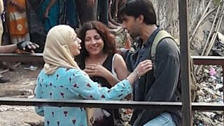 Alia Bhatt & Ranveer Singh SPOTTED At Sion Railway Station Shooting For Gully Boy