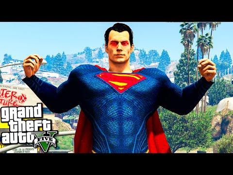 СУПЕРМЕН СПАСАЕТ ГОРОД ЛОС САНТОС В ГТА 5 МОДЫ! SUPERMAN ОБЗОР МОДА В GTA 5! ИГРЫ ВИДЕО MODS