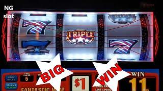 Triple Double Stars Slot Machine  💎Big Win💎 $5 Max Bet