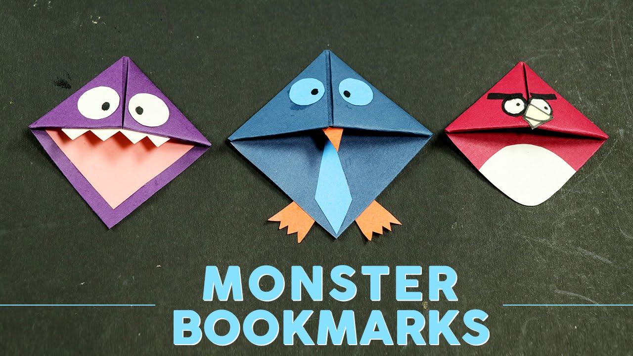 Diy Cool Monster Corner Bookmarks Making For Books Kids Crafts