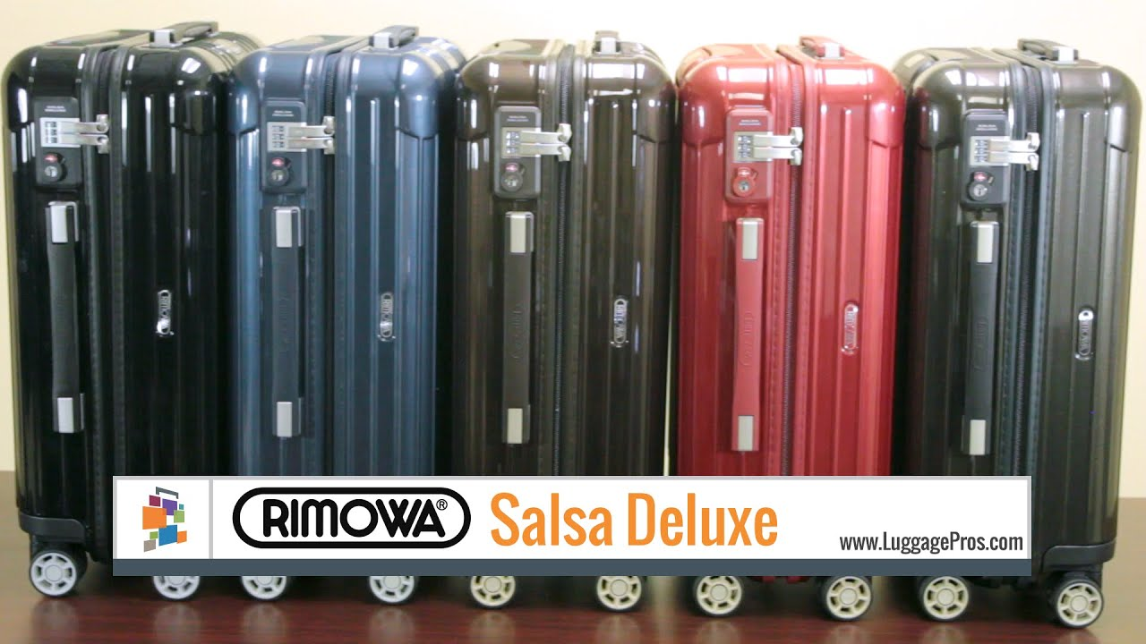 rimowa salsa deluxe collection luggage pros youtube. Black Bedroom Furniture Sets. Home Design Ideas
