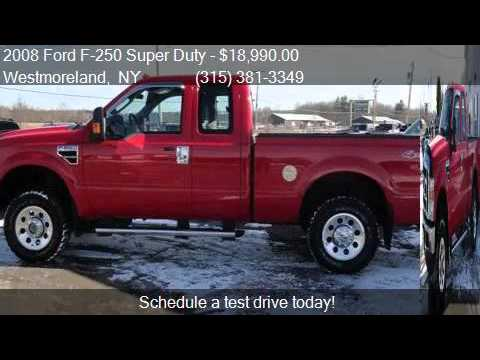 Upstate Auto Gallery >> 2008 Ford F 250 Super Duty Xlt For Sale In Westmoreland Ny