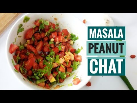 Spicy Masala Peanut Chat, Easy Starter, Cook In Without Fire, Easy Chat Recipe, Veg Starters