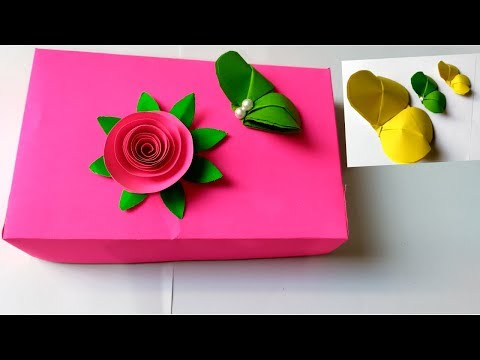 DIY Christmas Gift Box / Christmas Craft Project For Kids/Easy Paper Gift Box