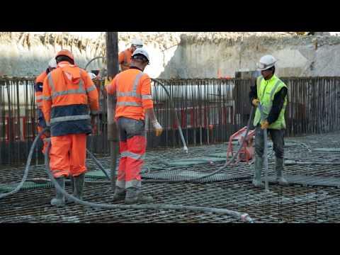 Réalisation de la station Alsace Lorraine et trémie de sortie du tunnel à Grosso - mai 2017