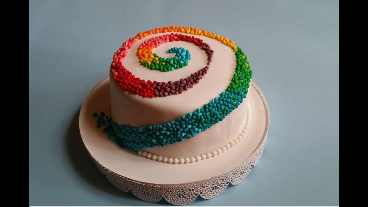 Torta Arcobaleno Torta Carnevale Molto Sfiziosa Youtube