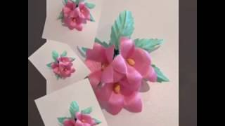 Как сделать цветы из ткани, своими руками!Колокольчик .