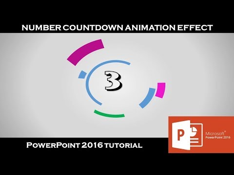 Number Countdown Timer Animation Effects | PowerPoint Custom