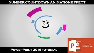 Number Countdown Timer Animation Effect | PowerPoint 2016 Tutorial | The Teacher