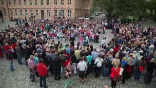 Flashmob Neuruppin 2014 - 20 Jahre Jugendkunstschule