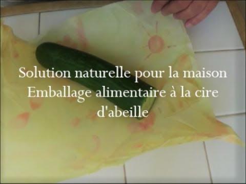 emballage alimentaire la cire d 39 abeille solution naturelle pour la maison youtube. Black Bedroom Furniture Sets. Home Design Ideas