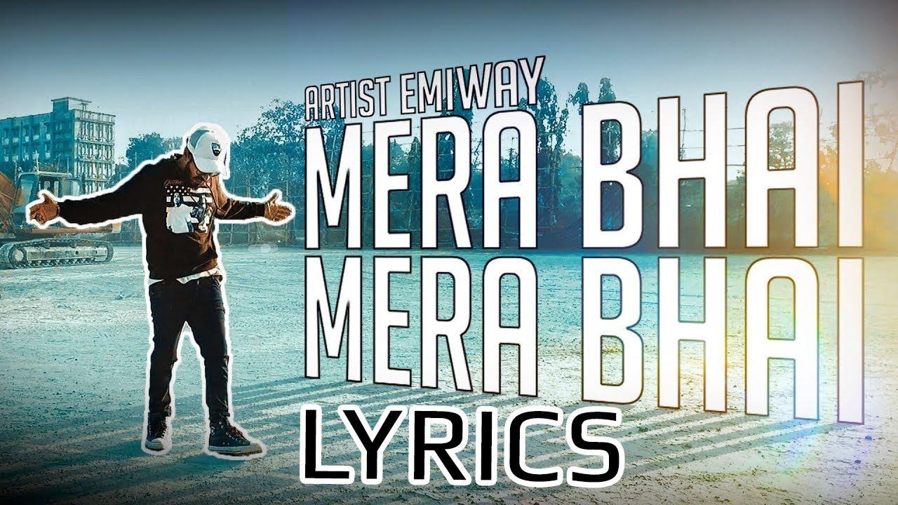 Emiway - Mera Bhai Mera Bhai LYRICS