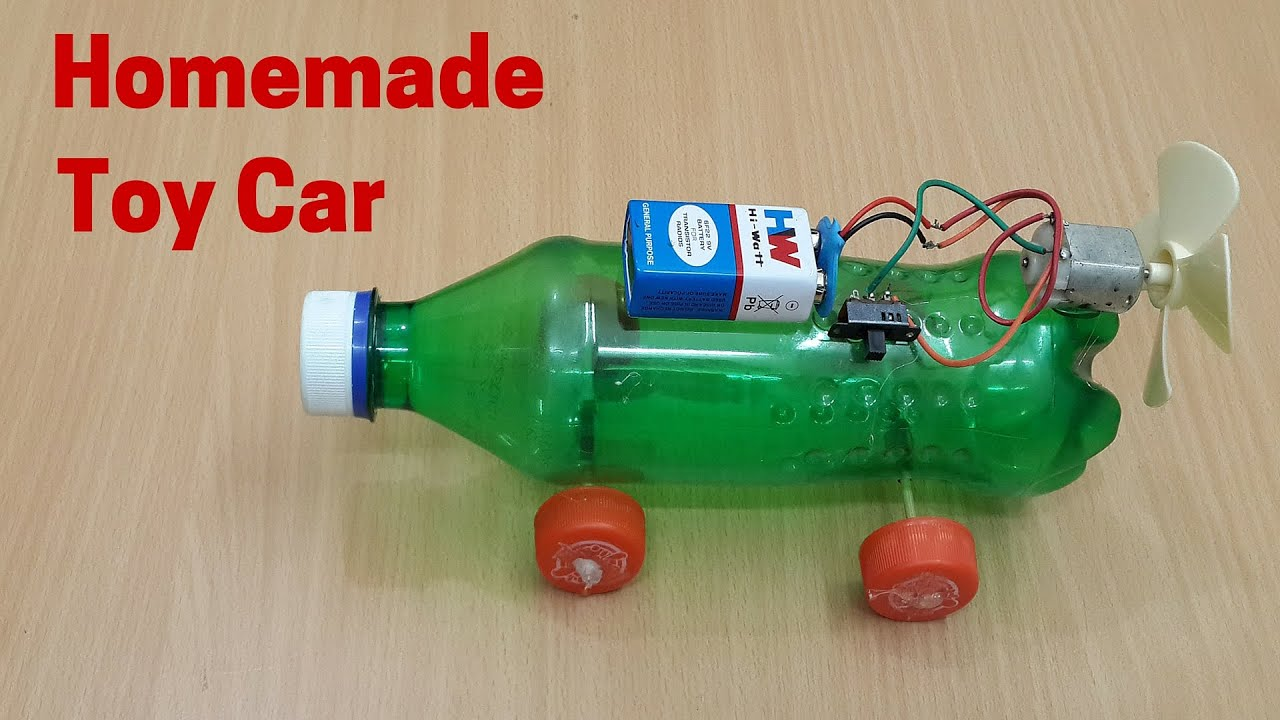 Image result for Handmade toys: car made with a plastic container