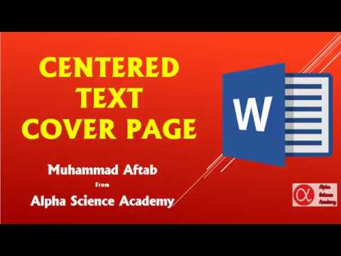 Make A Cover Page For Thesis In MS Word | In English