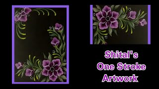 Simple and Easy Strokes in One stroke painting | Acrylic Flowers Painting