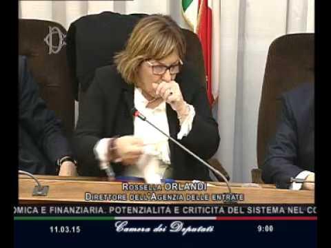 Roma - Audizione Direttrice Agenzia delle entrate, Orlandi (11.03.15)