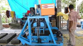 Everon Impex Heavy Duty Concrete Block Making Machine, Hollow block making machine manufacturers,