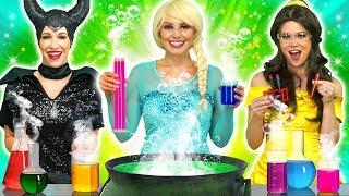 DISNEY PRINCESS MAGIC POTION. (What Happens to Elsa, Ariel, Belle, Jasmine and Maleficent?)