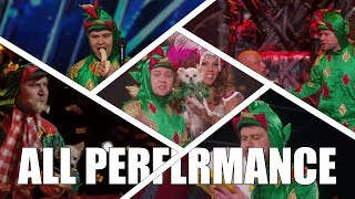 Piff the Magic Dragon Comedic Magician America's Got Talent  2015 All Performances|GTF