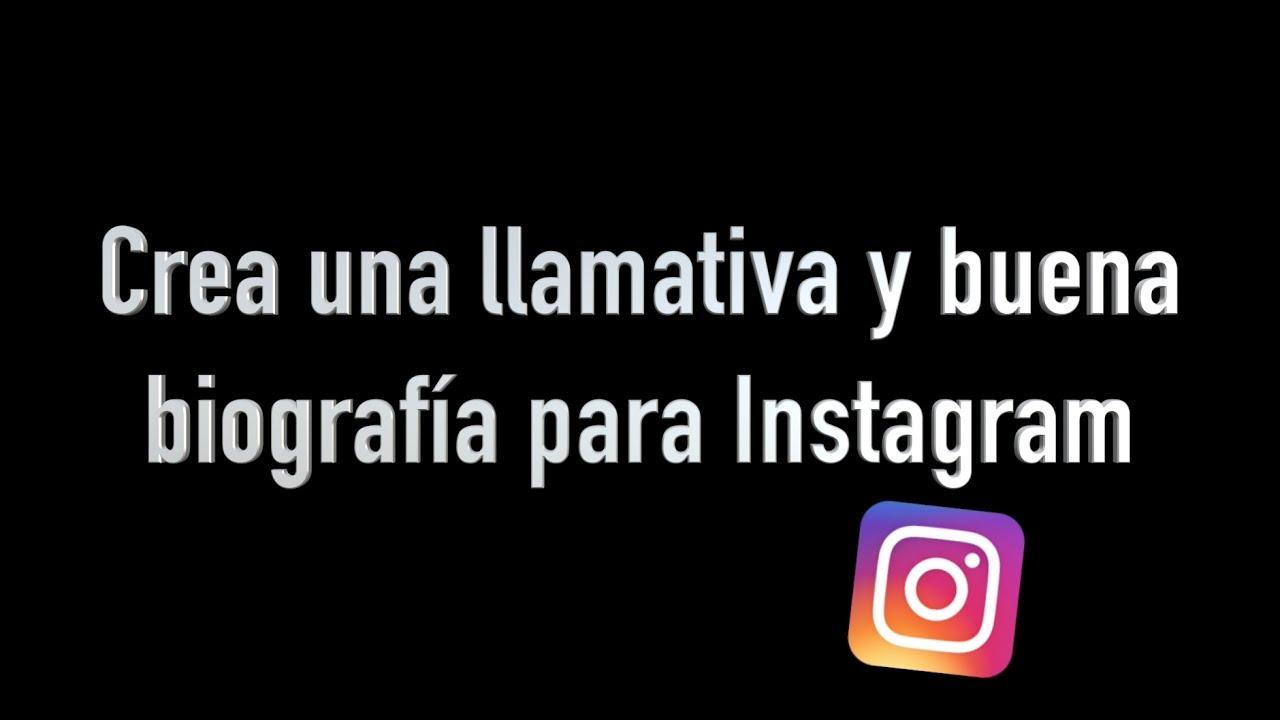 Mensagem Para Foto Instagram: TRUCO Para Crear Una Buena Biografía Para Instagram