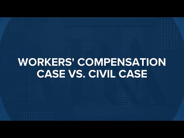 Difference Between Workers' Compensation Cases and Civil Cases