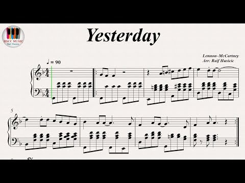 Yesterday - The Beatles, Piano