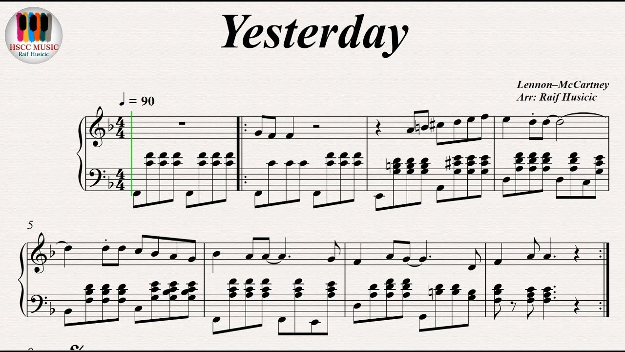 Yesterday The Beatles Piano