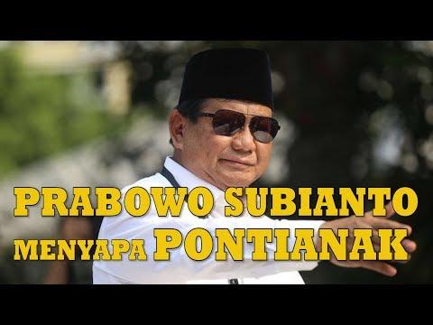 Prabowo Subianto menyapa Pontianak
