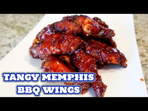 Memphis BBQ Chicken Wings In The Oven | Easy Chicken Wing Recipes