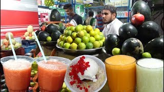 Over Thousands of People Eating Fruit Salad with Ice Cream & Fruit Juice | KGN Juice Point Hyderabad